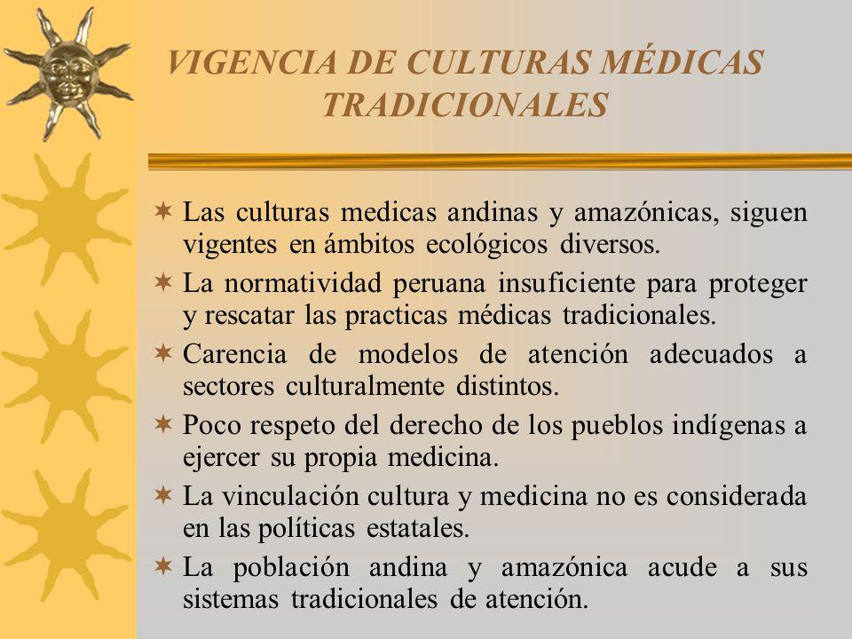 VIGENCIA DE CULTURAS MÉDICAS TRADICIONALES