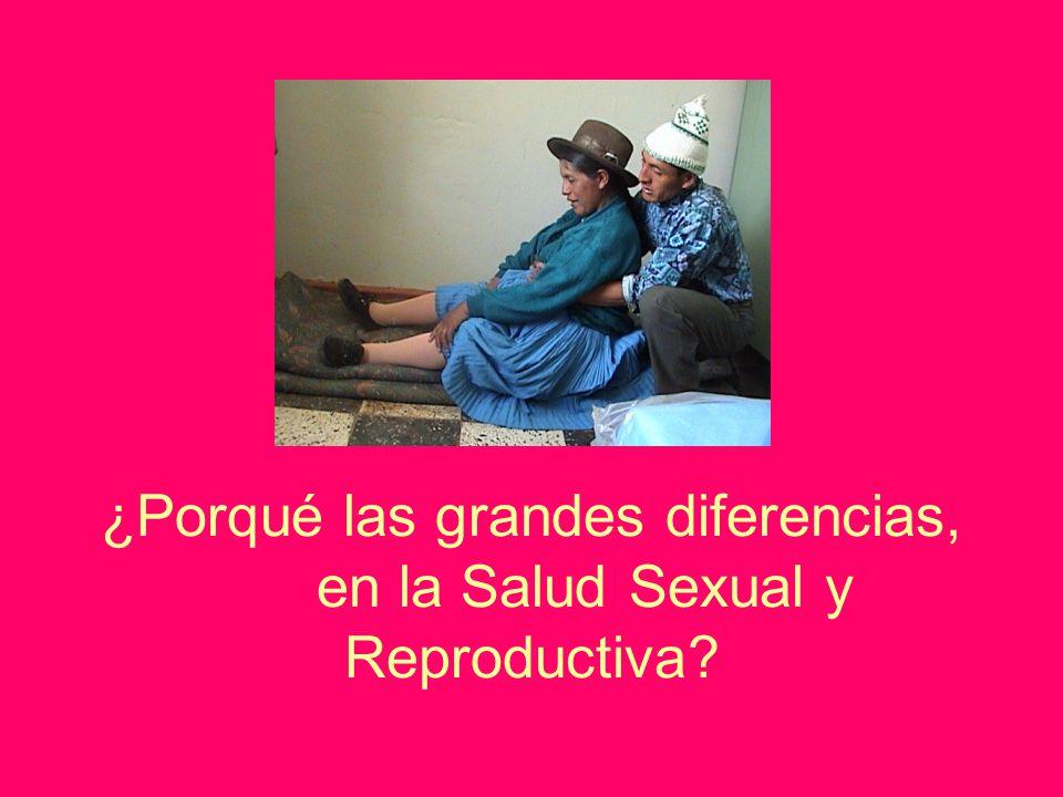¿Porqué las grandes diferencias, en la Salud Sexual y Reproductiva