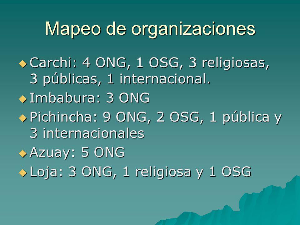 Mapeo de organizaciones
