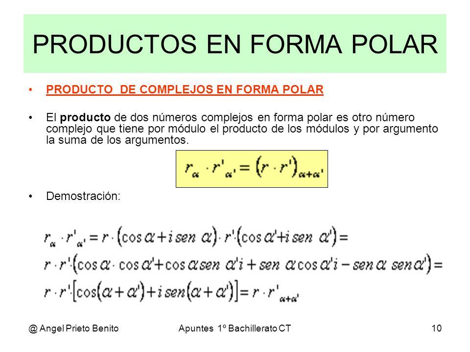 PRODUCTOS EN FORMA POLAR