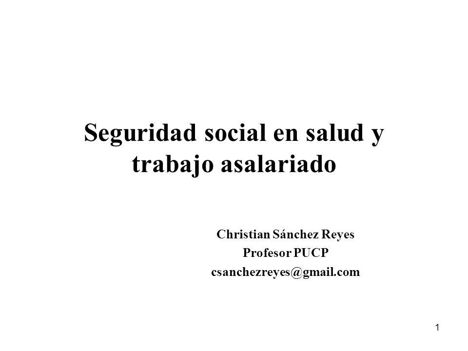 Seguridad social en salud y trabajo asalariado