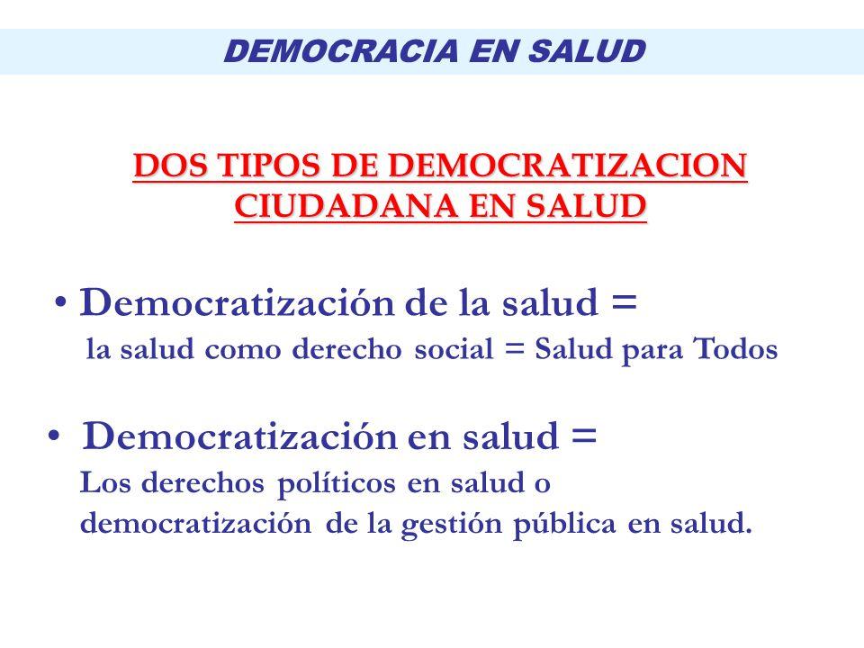 DOS TIPOS DE DEMOCRATIZACION