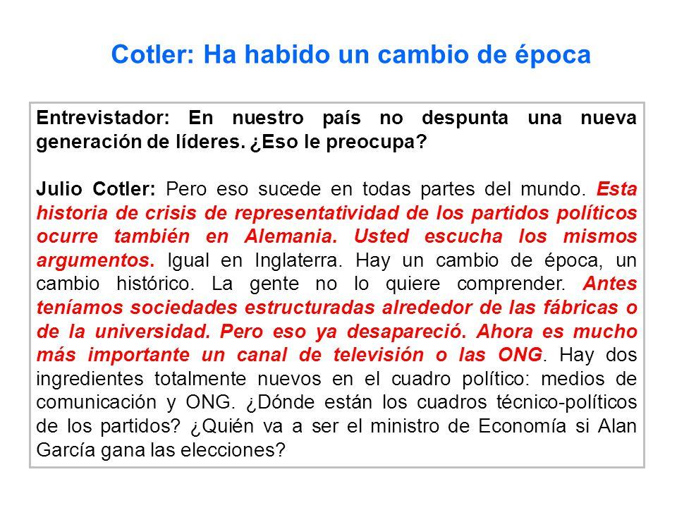 Cotler: Ha habido un cambio de época
