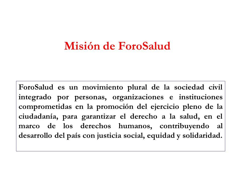 Misión de ForoSalud