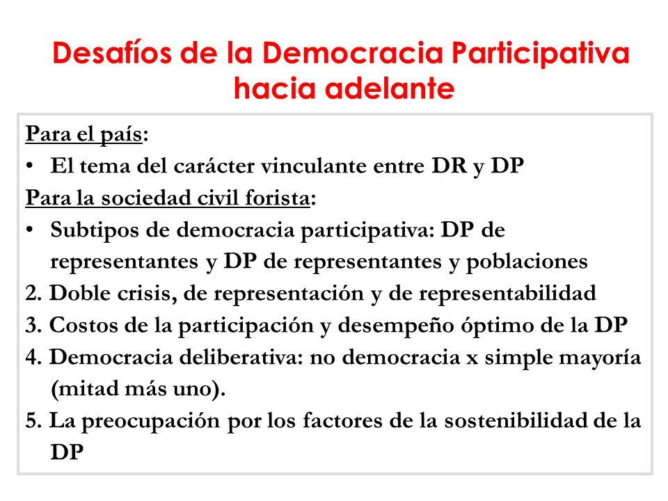 Desafíos de la Democracia Participativa