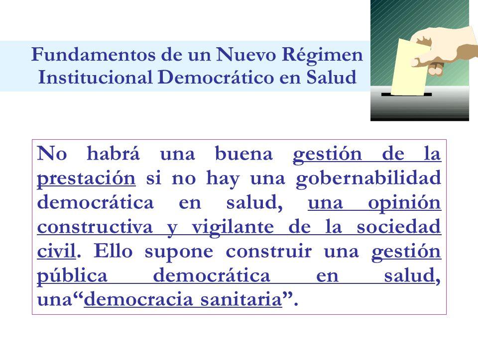 Fundamentos de un Nuevo Régimen Institucional Democrático en Salud