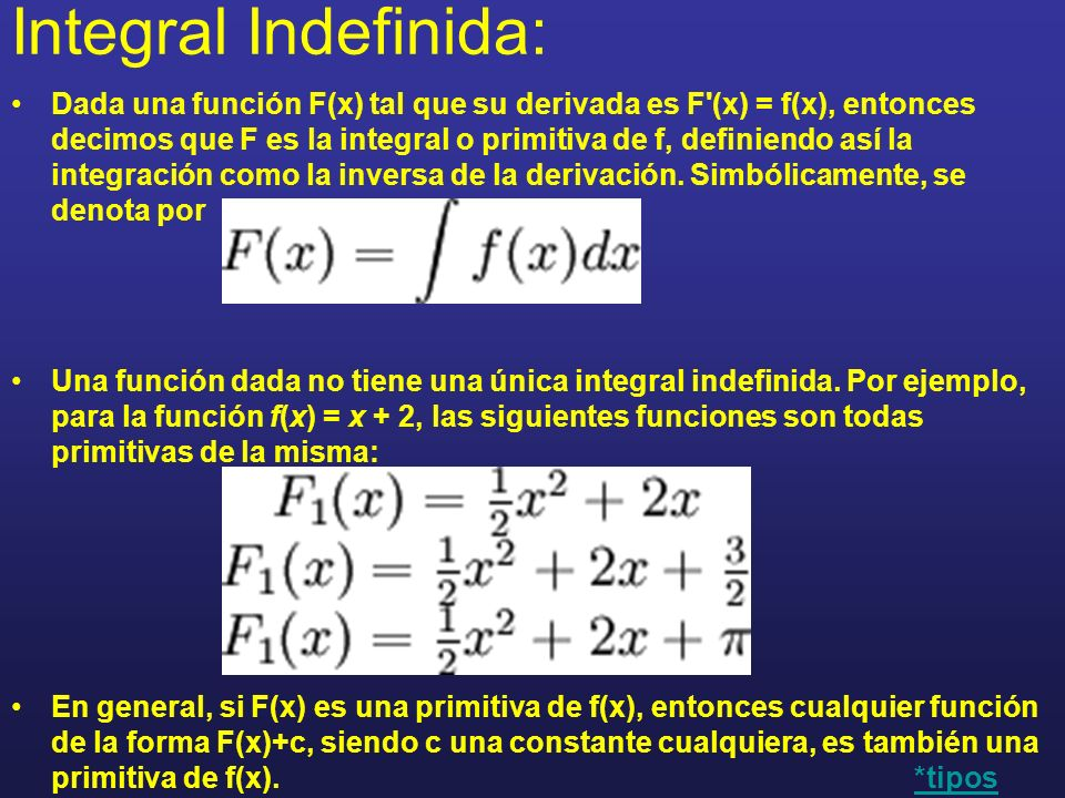 Integral Indefinida: