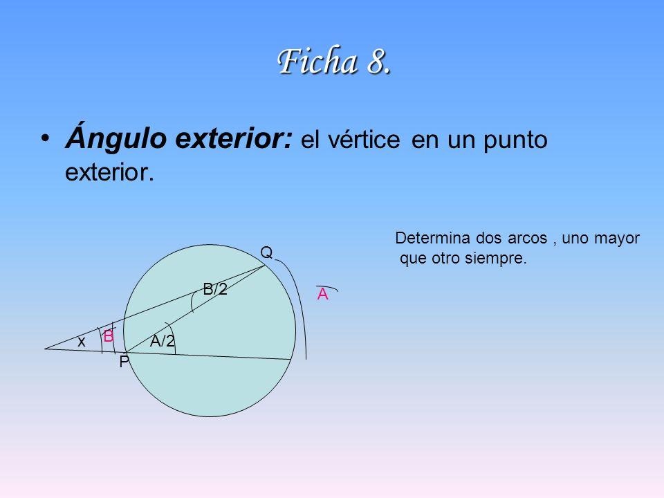 Ficha 8. Ángulo exterior: el vértice en un punto exterior.