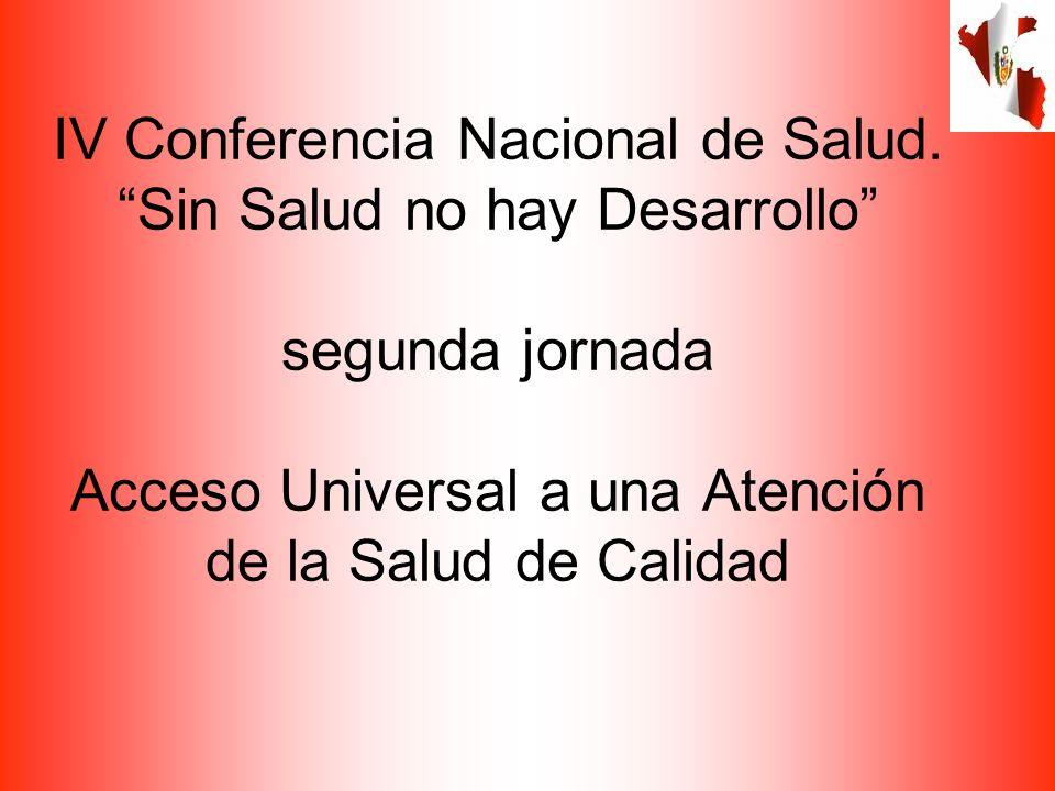 IV Conferencia Nacional de Salud