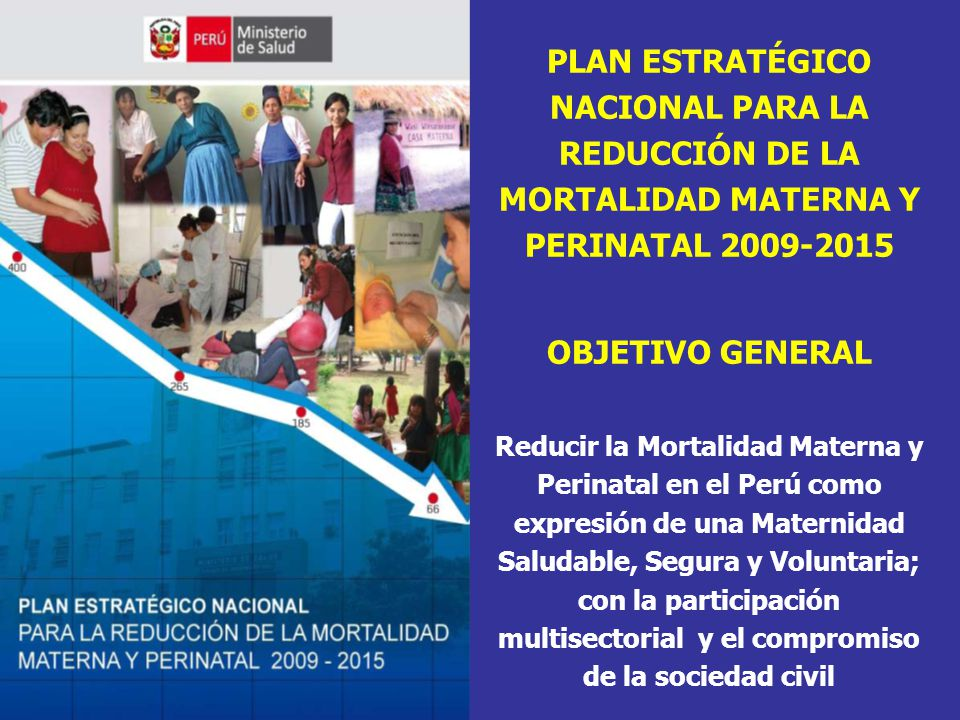 PLAN ESTRATÉGICO NACIONAL PARA LA REDUCCIÓN DE LA MORTALIDAD MATERNA Y PERINATAL 2009-2015