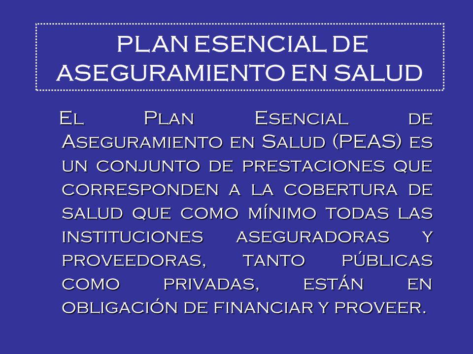 PLAN ESENCIAL DE ASEGURAMIENTO EN SALUD