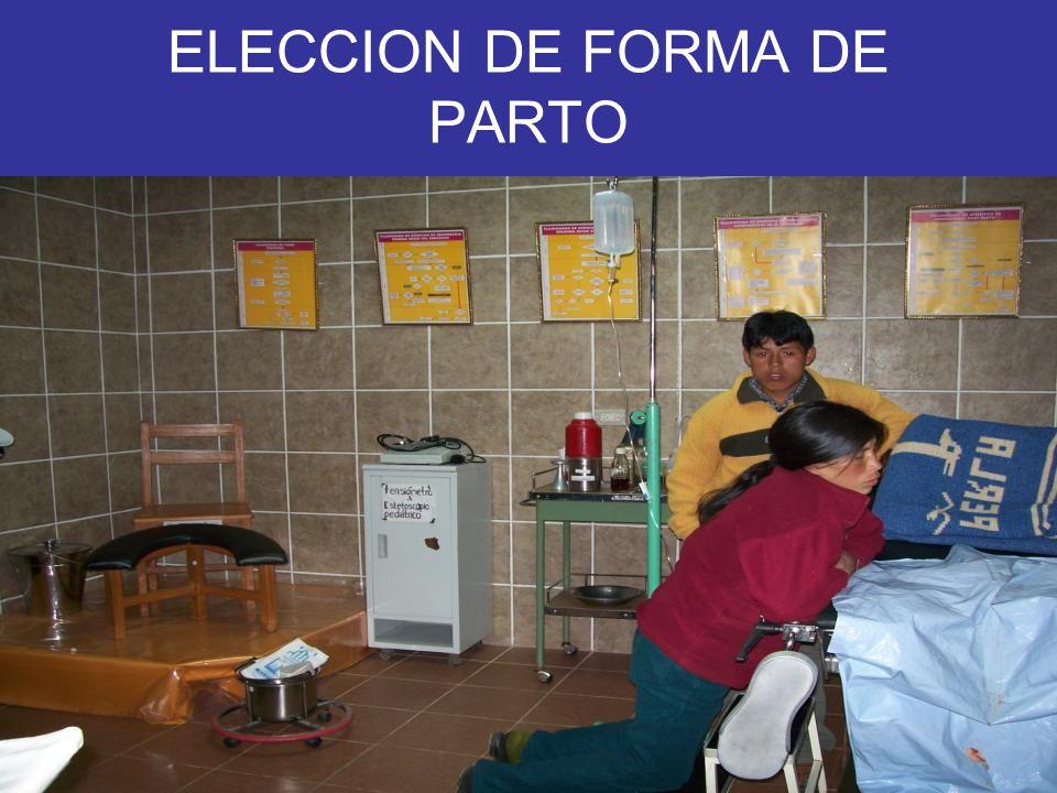 ELECCION DE FORMA DE PARTO