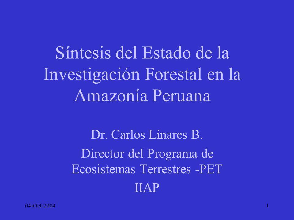 Director del Programa de Ecosistemas Terrestres -PET