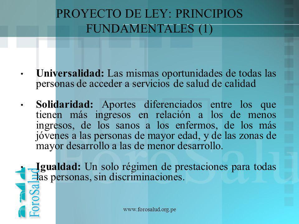 PROYECTO DE LEY: PRINCIPIOS FUNDAMENTALES (1)