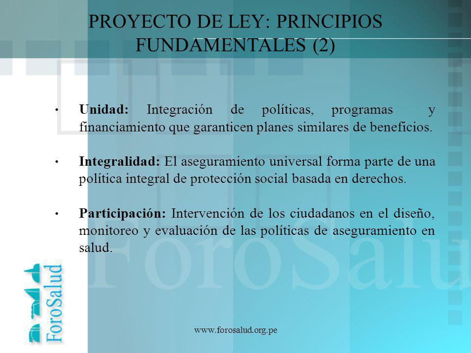 PROYECTO DE LEY: PRINCIPIOS FUNDAMENTALES (2)