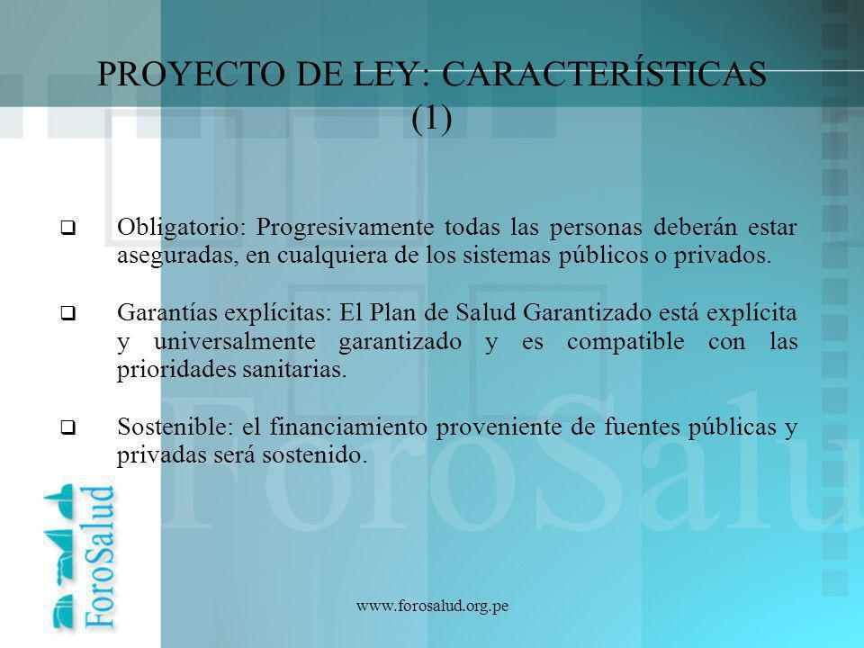 PROYECTO DE LEY: CARACTERÍSTICAS (1)