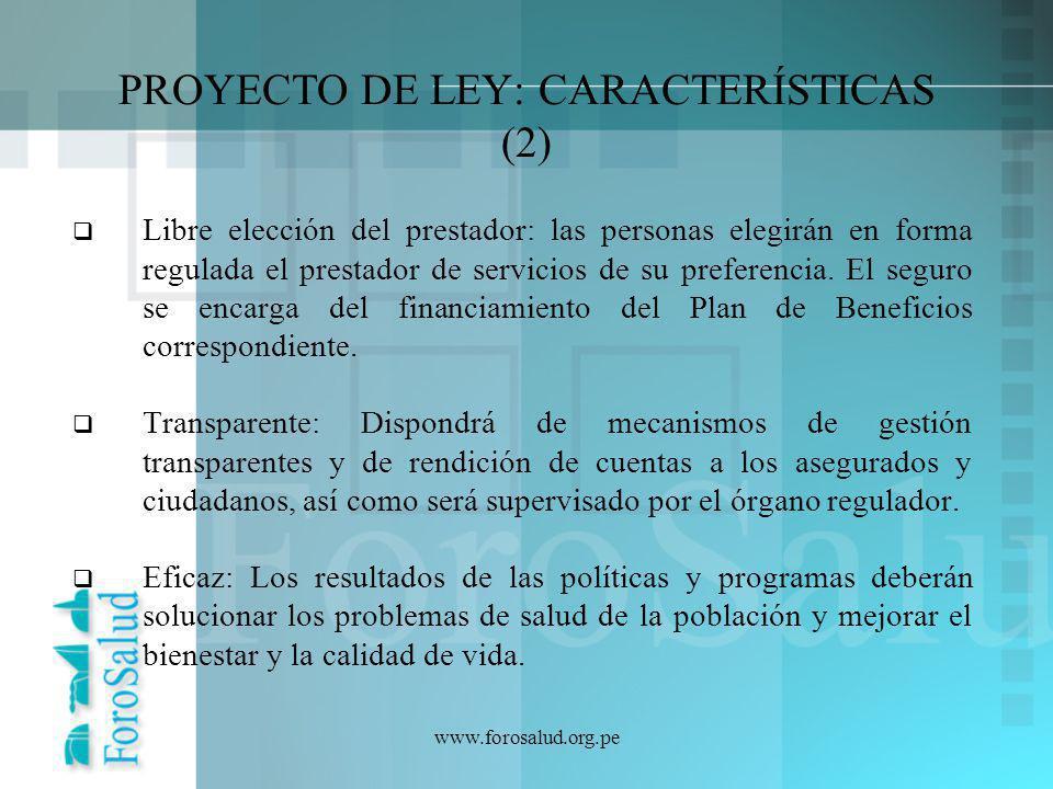 PROYECTO DE LEY: CARACTERÍSTICAS (2)