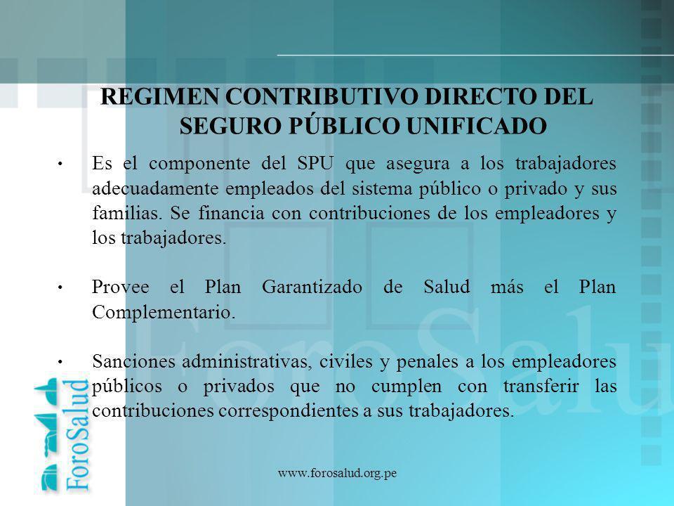 REGIMEN CONTRIBUTIVO DIRECTO DEL SEGURO PÚBLICO UNIFICADO
