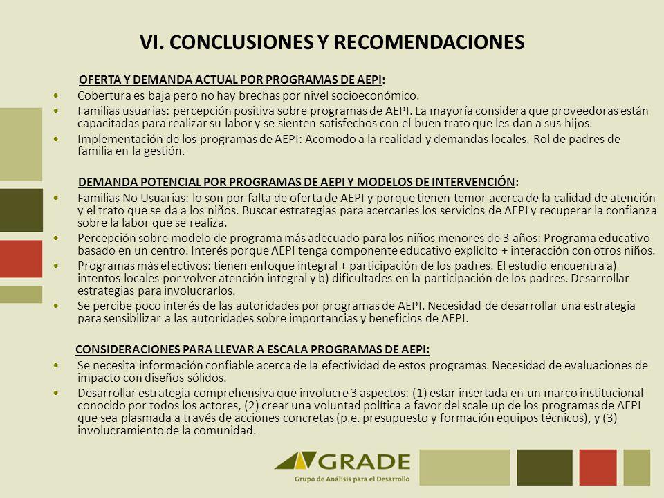 VI. CONCLUSIONES Y RECOMENDACIONES