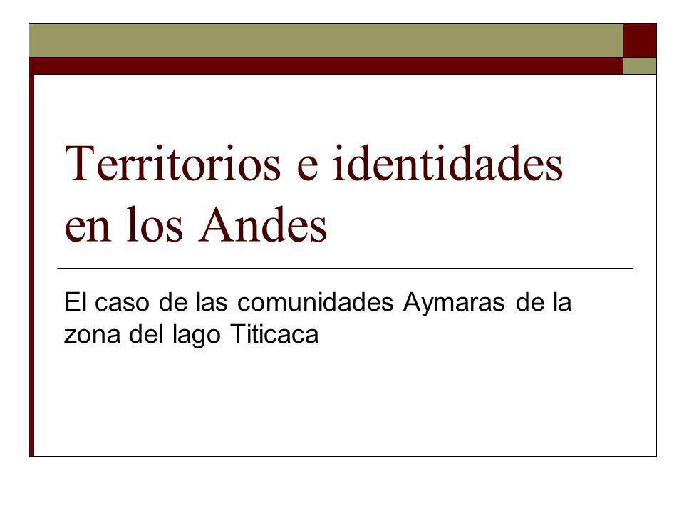 Territorios e identidades en los Andes