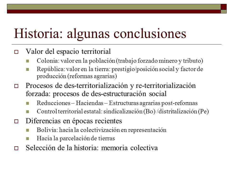 Historia: algunas conclusiones