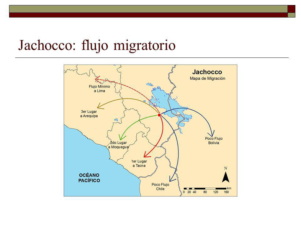 Jachocco: flujo migratorio