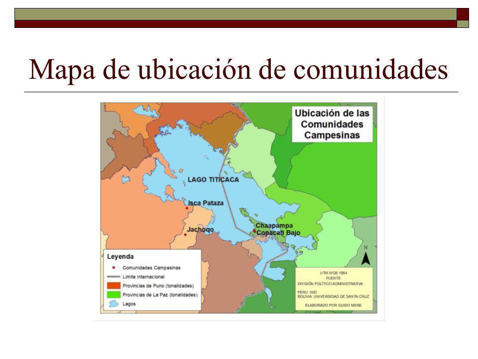 Mapa de ubicación de comunidades