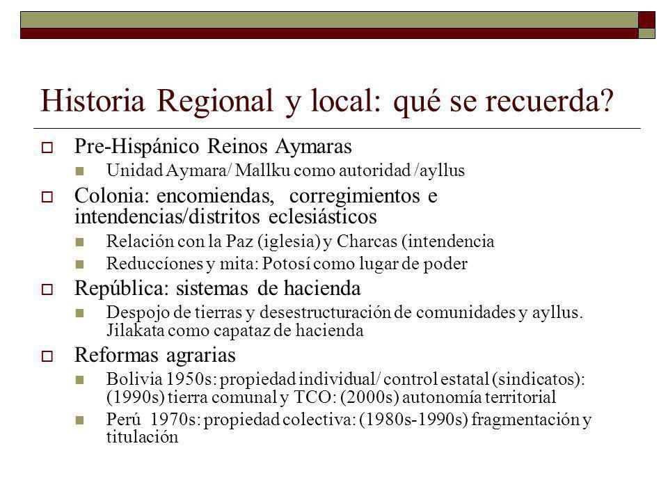 Historia Regional y local: qué se recuerda