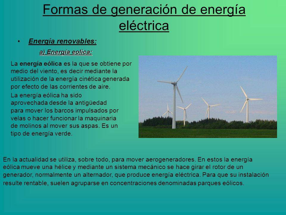 Formas de generación de energía eléctrica