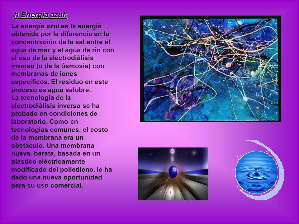 f) Energía azul: