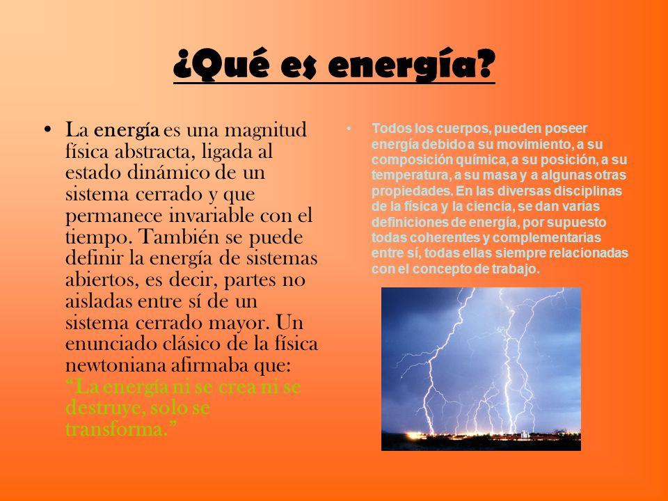 ¿Qué es energía