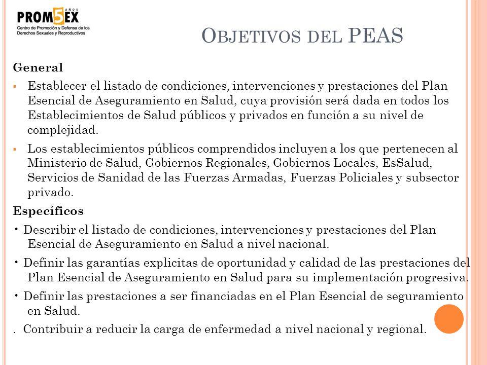 Objetivos del PEAS General