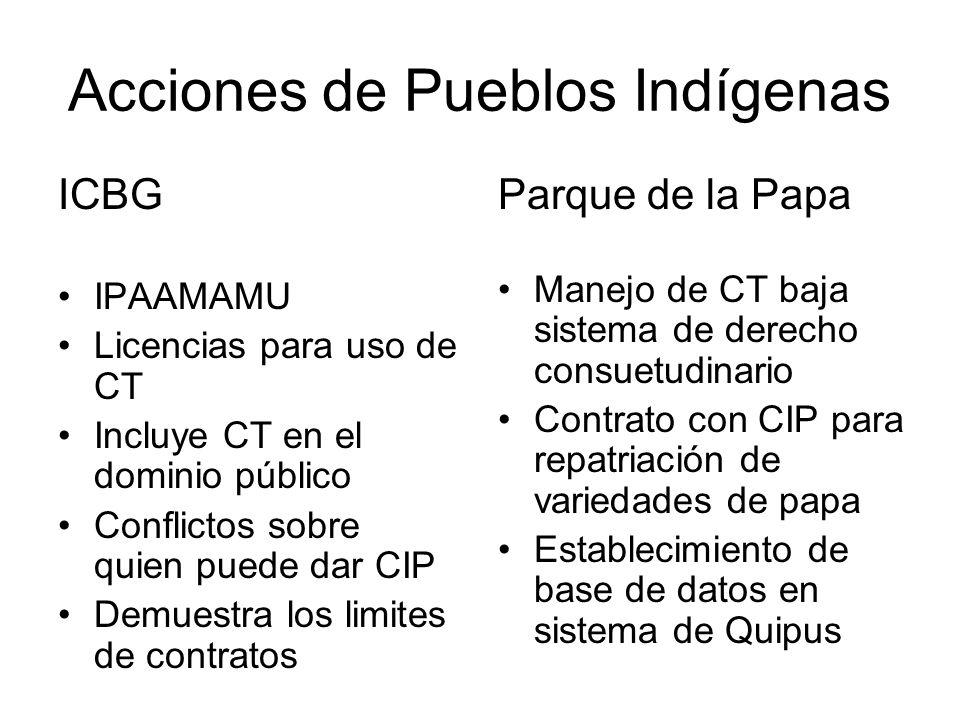 Acciones de Pueblos Indígenas