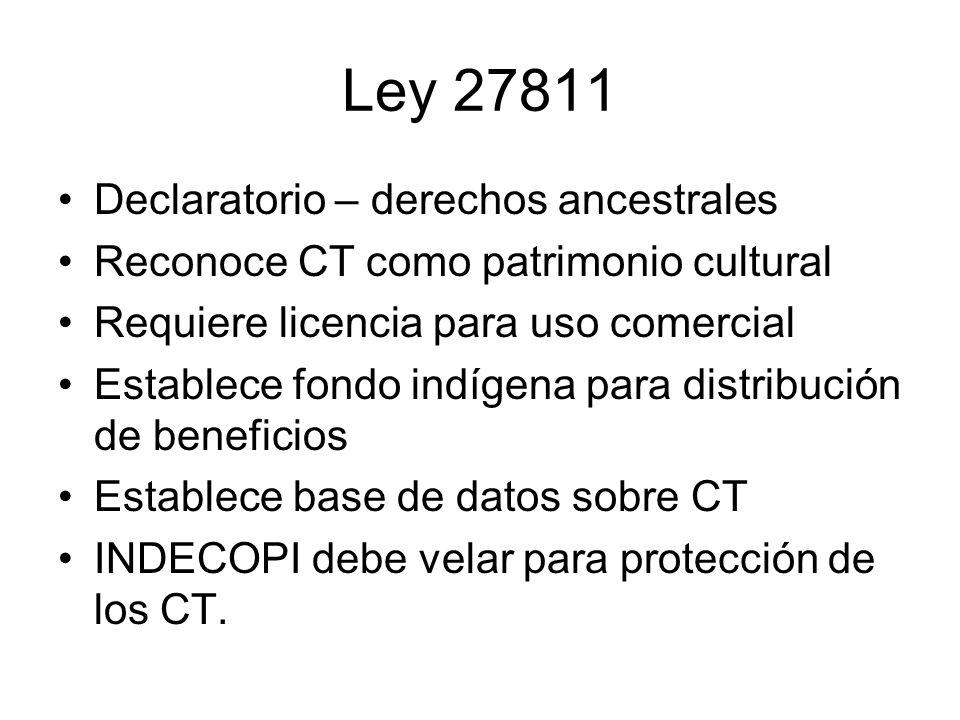 Ley 27811 Declaratorio – derechos ancestrales