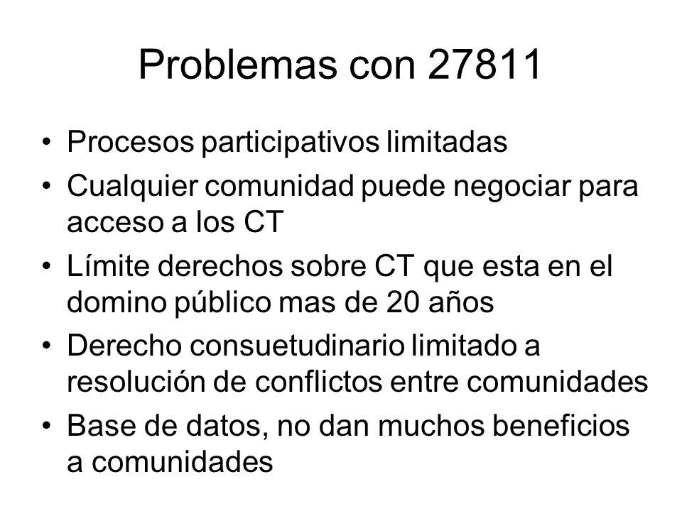 Problemas con 27811 Procesos participativos limitadas