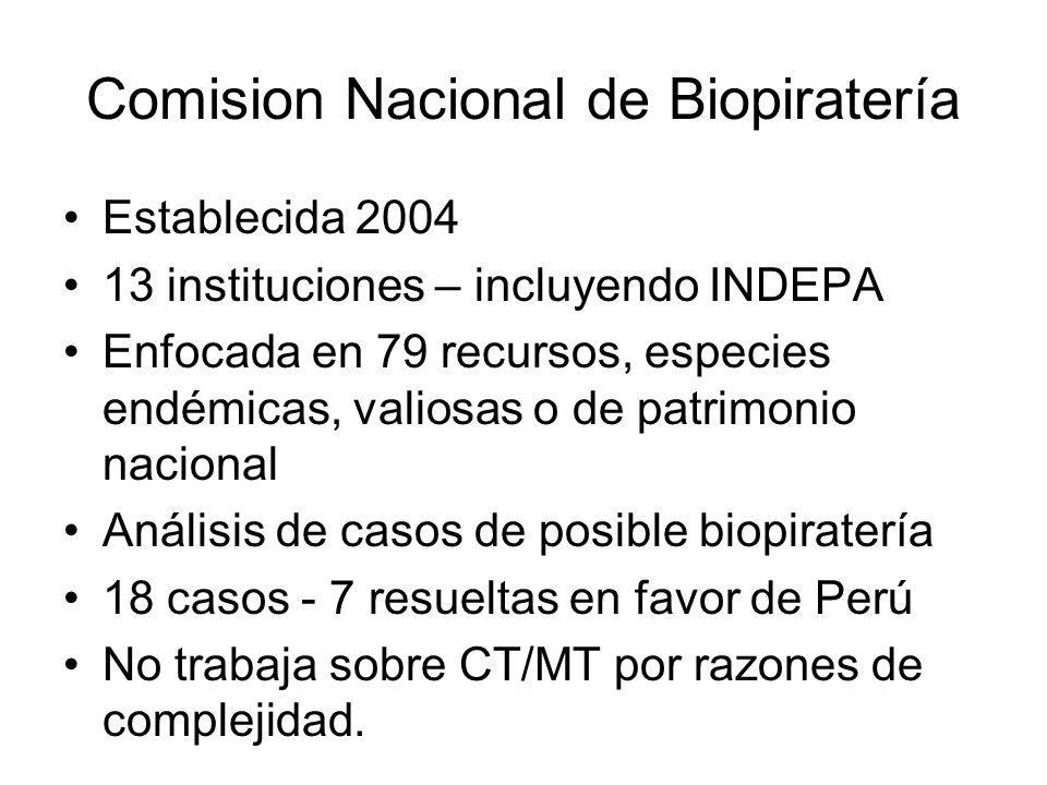Comision Nacional de Biopiratería
