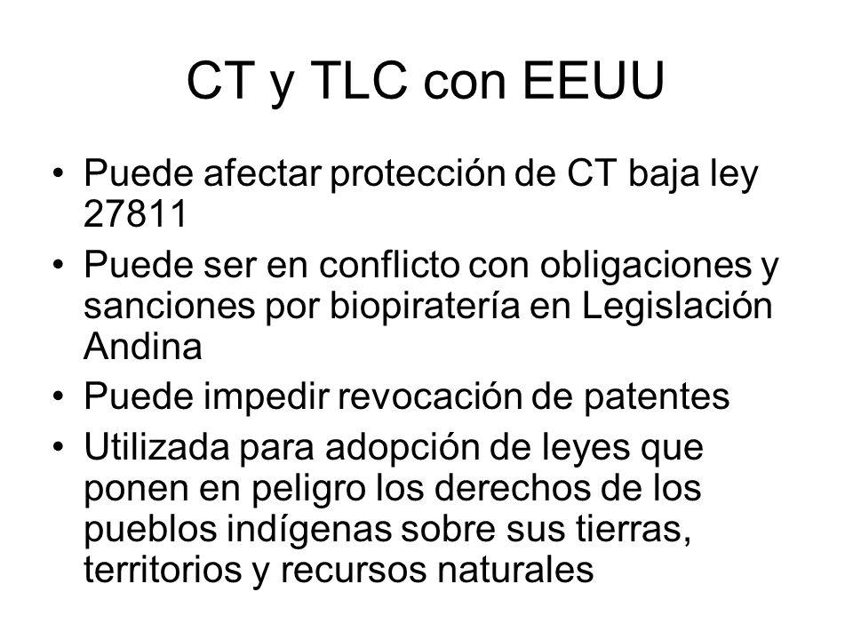 CT y TLC con EEUU Puede afectar protección de CT baja ley 27811