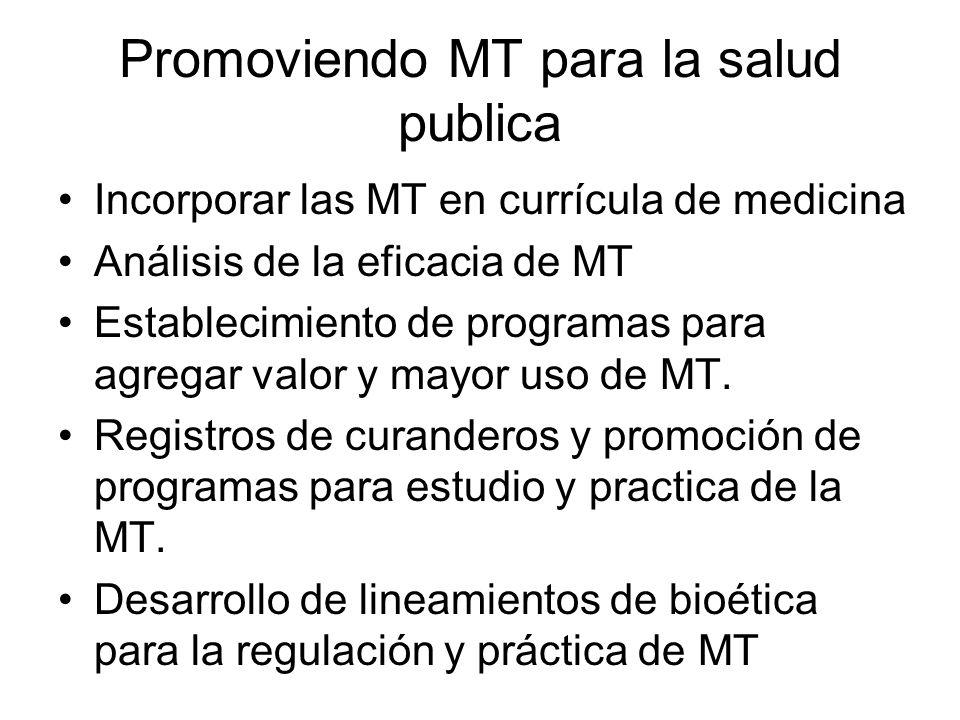 Promoviendo MT para la salud publica