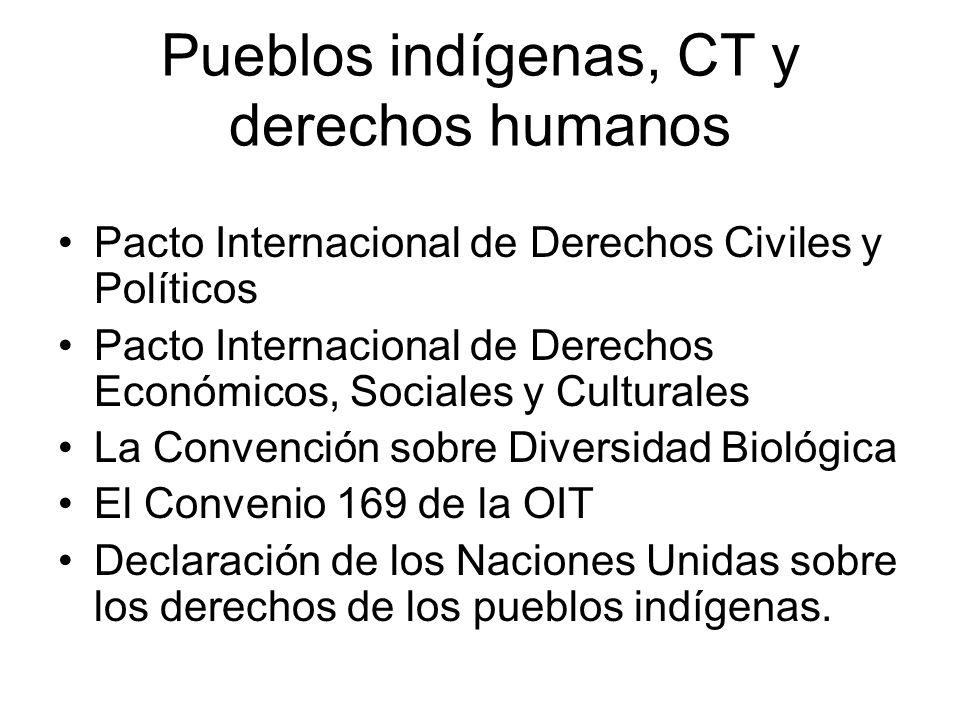 Pueblos indígenas, CT y derechos humanos