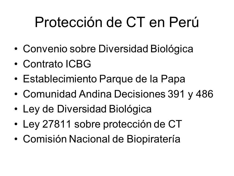 Protección de CT en Perú