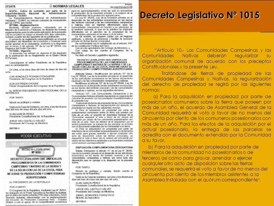 Decreto Legislativo Nº 1015