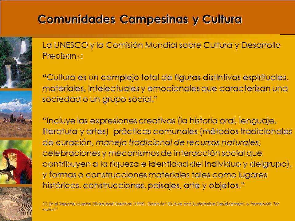 Comunidades Campesinas y Cultura