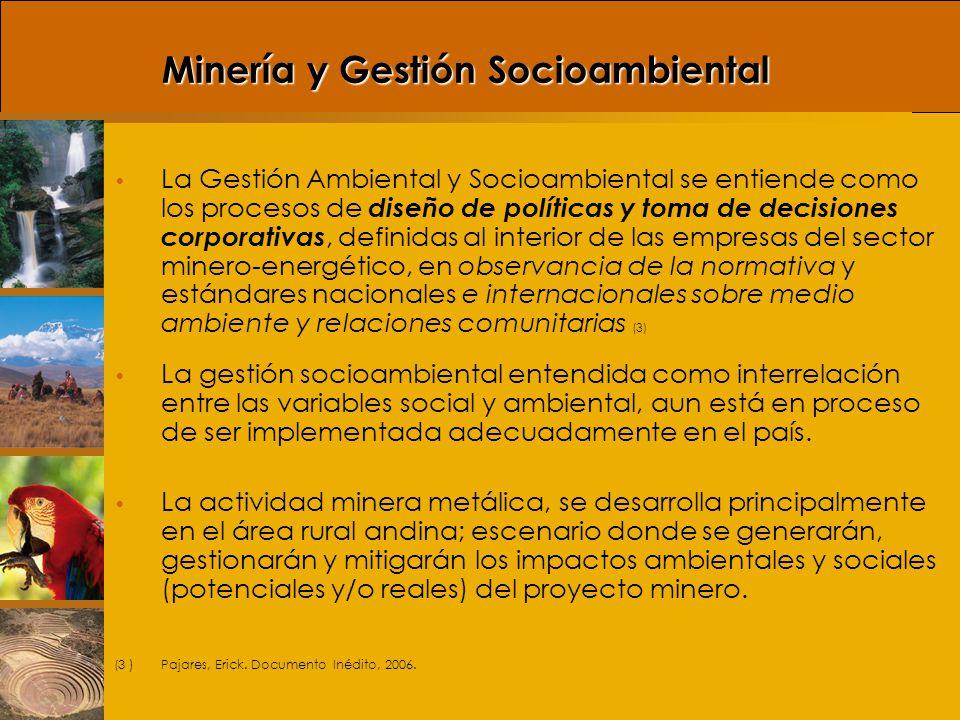 Minería y Gestión Socioambiental