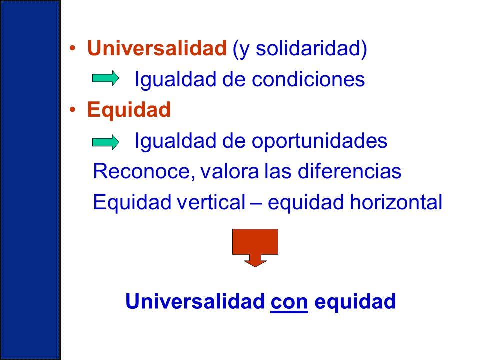 Universalidad con equidad