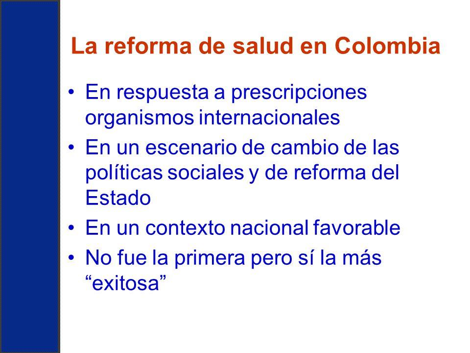 La reforma de salud en Colombia