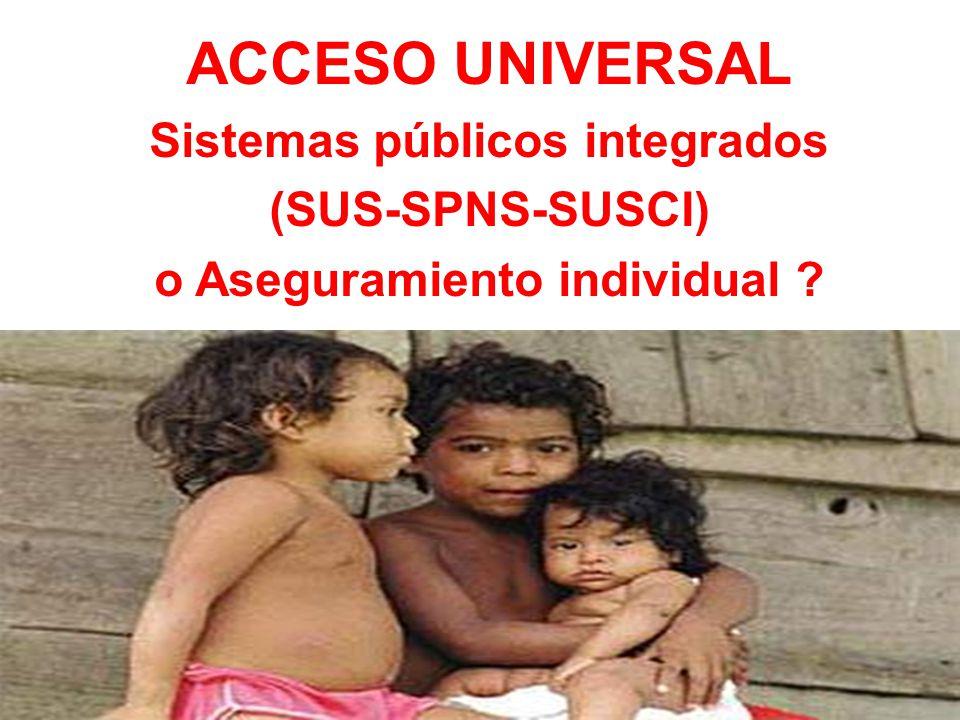 Sistemas públicos integrados o Aseguramiento individual