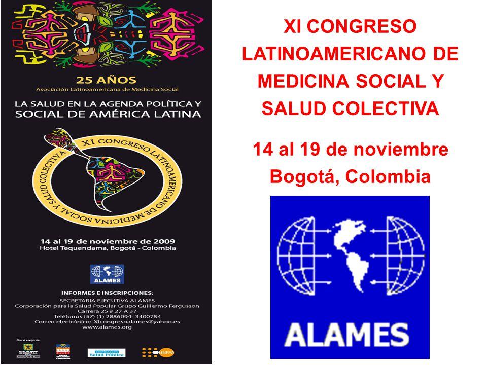 XI CONGRESO LATINOAMERICANO DE MEDICINA SOCIAL Y SALUD COLECTIVA
