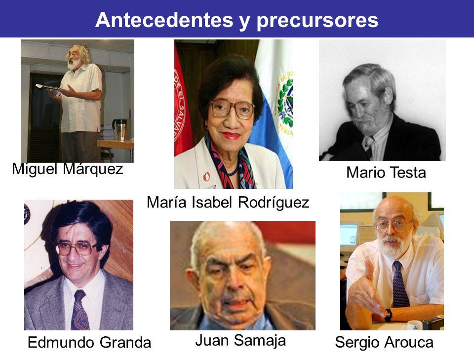 Antecedentes y precursores