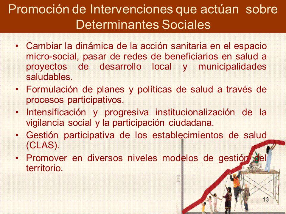 Promoción de Intervenciones que actúan sobre Determinantes Sociales