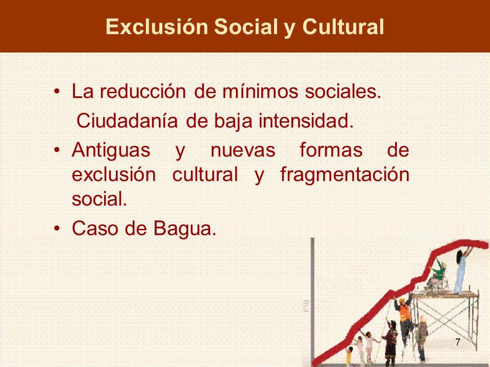 Exclusión Social y Cultural